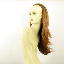 Demi-tête, demi-perruque lisse 62cm blond foncé cuivré ref 013 en g27