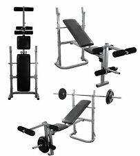 Weight Lifting Bench Adjustable Folding Home multi gym bench Leg extension