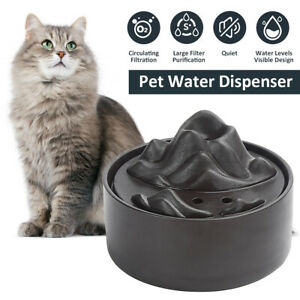 Ceramic Automatic Eletric Water Fountain Feeder Pet Dog Cat Drinking
