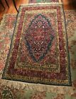 PRETTY VINTAGE ANTIQUE HAND KNOTTED ORIENTAL RUG 4' BY 7'