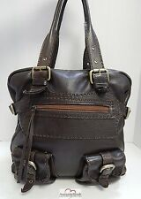 Carla Mancini Brown Soft Leather Tote Bag