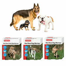 Beaphar One Dose Dog Wormer Dog Worming Roundworm Tapeworm Dog Puppy Tablets