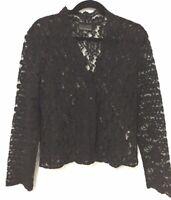 Liz Jordan Black lace  top size XL Womens