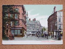 R&L Postcard: Charing Cross Glasgow, Post Office/Shops/Trams, JMCo