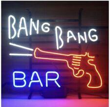 Bang Bang Bar Gun Neon Sign Lamp Light Beer Bar With Dimmer