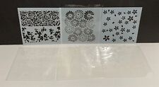 FLOWERS Roses Blossoms Stencils 5x5 Lot of 6