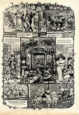 Heinrich Zille Im Sommergarten Miljöh Presse-Zeichnungen v.1912