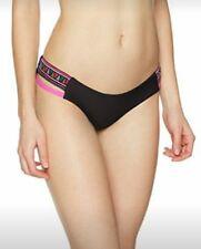 6# O 'Femme Neill Côté Détail Cheeky Bas Bikini Noir Taille 8 RRP £ 29.99