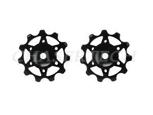 New MTB Road Bike Derailleur Jockey Wheel Ceramic Bearings Pulley 11T Black