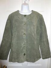 NWT COLDWATER CREEK Women OLIVE Green 100% Genuine SUEDE JACKET Coat Size XL NEW