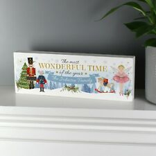 Personalised Nutcracker Christmas Home Wooden Block Xmas Home Decorations