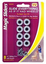 Magic Sliders Plastic Screw-On Floor Slide Gray Round 3/4 in. W 8 pk