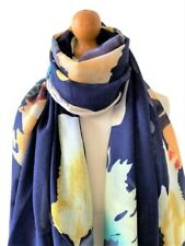 Marineblau Multi Bold Abstract Watercolour Print Scarf Wrap Shawl tolle Geschenk...