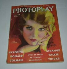 PHOTOPLAY  feb 1930   vintage Movie Magazine Ruth Chatterton earl christy cover