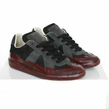 MAISON MARTIN MARGIELA patent red paint dipped trainers shoes sneakers 35 NEW
