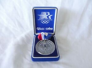 Los Angeles 1984 Olympics WATERFORD CRYSTAL Medal With Ribbon in Box