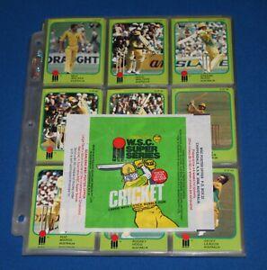1981 Scanlens Cricket Full Set of 89 Cards Including Checklists Wrapper NM/Mint