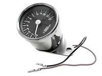 Single Fire Electronic Tachometer / Mini Tach 48mm Black Face MMB Harley Engine