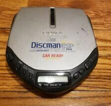 SONY Discman D-E307CK ESP Mega Bass Car Ready Silver Portable CD Player TESTED