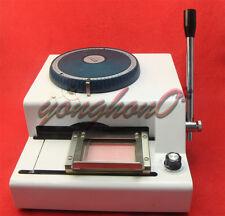 VIP Card Embosser Code Printer 68 Letter Manual Stamping Machine PVC ID Credit