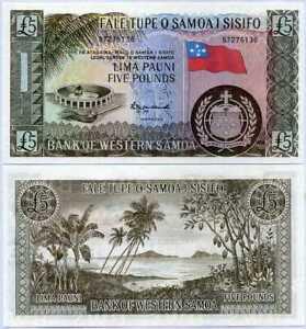 Western Samoa 5 Pounds ND 1967 /2020 P 15 RP Reprint UNC
