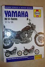 YAMAHA XV535 TR1 XV700 XV750 XV920 XV1000 XV1100 SE VIRAGO HAYNES Manual 1981-96