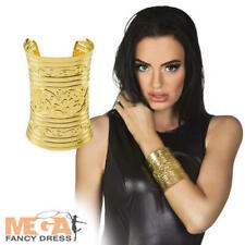 Cleopatra Gold Bracelet Adults Fancy Dress Ancient Egyptian Costume Jewellery