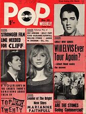 Pop Weekly Magazine 27 March 1965  Marianne Faithfull The Hollies Rolling Stones
