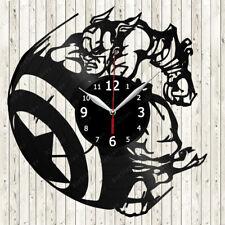 Captain America Vinyl Record Wall Clock Decor Handmade 2225