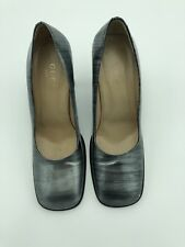 ae7018484f82 Gucci Italy Vintage Grey Black Leather Pump Women s Shoes Sz 8.5 B