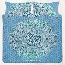 Green Ombre Mandala Bedding Set Queen Tapestry Bed Sheet Pillow Covers Set