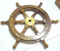 12 Inches Hand Crafted Premium Nautical Wooden Ship Wheel