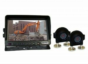 """Dakota Micro Overview 7"""" Backup Camera Kit, Screen + 2 Cameras + 120 ft Cables"""