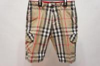 BURBERRY NOVA CHECK CARGO SHORT PANTS BOY'S  10Ys