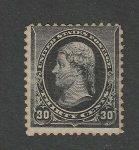USA Scott # 228 Fine OG Guaranteed NH Toned US Stamp