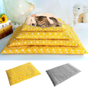Dog Bed With Removable Cover Washable Pet Cat Cushion Soft Kennel Crate Mattress