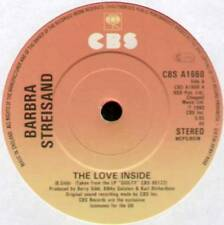 "[BEE GEES] BARBRA STREISAND ~ LOVE INSIDE / NEVER GIVE UP ~ 1980 UK 7"" SINGLE"