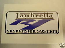 LAMBRETTA Vespa Scooter R1 REAR SHOCK CONVERSION Sticker GP,TV,LI,SX,GT. 200
