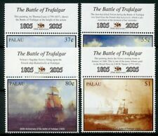 Palau Ships Stamps 2005 MNH Battle of Trafalgar 200 HMS Victory Boats 4v Set
