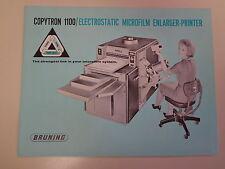 Bruning Copytron 1000 Electrostatic Copier Microfilm Machine Brochure 1960's