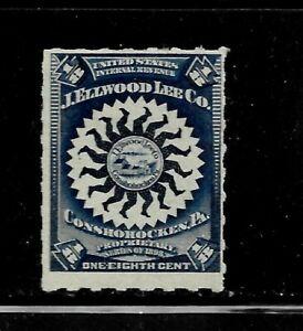 HICK GIRL-MINT U.S. M&M. STAMP   SC#RS290   1/8 CENT  J. ELLWOOD LEE CO.   D1325