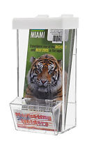 Clear Outdoor Wall Mount Brochure Holder for 3.75 x 8.75 Literature with Busines