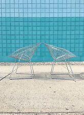 Harry Bertoia | Pair Diamond Chairs Satin Chrome | Knoll mid century