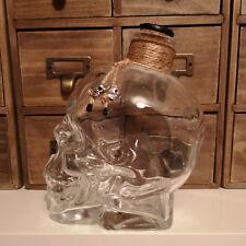 Jayengrave Crystal Skull Head 750 ML Crâne et os croisés verre carafe bouteille