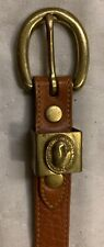 Dooney & Bourke Women's Belt ,Vintage, Brown, Leather Skinny Belt W/ Gold Buckle