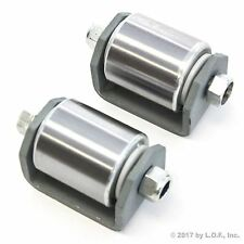 """2 Weld On Heavy Duty Steel Micro Mini 2"""" Roller for Trailers with Grease Fitting"""