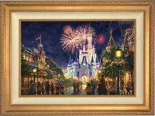 Thomas Kinkade Main Street USA 18 x 27 LE S/N Canvas (Gold Frame)  Disney World