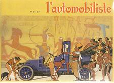L'AUTOMOBILISTE 30 1973 Voiturettes BEDELIA CHARRON & CGV & ALDA