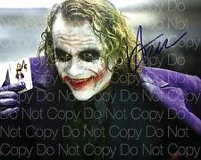 The Dark Knight Joker poster signed Ledger 8X10 photo picture autograph RP 2