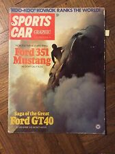 March 1971 Sports Car Graphic Ford GT 40 Boss Mustang Barris Regazzoni McLaren